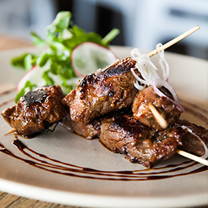 Indonesian Beef Skewers